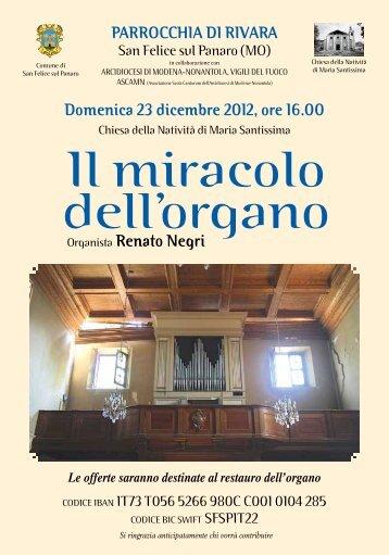 Il miracolo dell'organo - Chiesa della Nativitá di Santa Maria