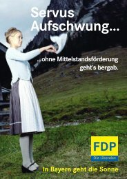 In Bayern geht die Sonne ...ohne ... - moore + partner communications