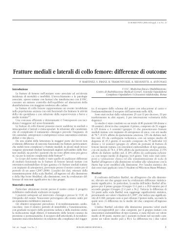 Fratture mediali e laterali di collo femore - Medik.Net