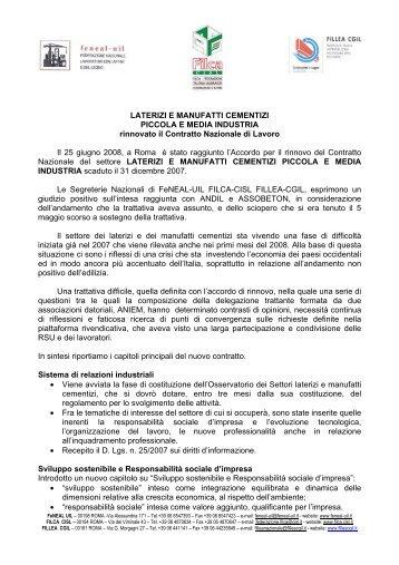 VOLANTINO CCNL PICCOLA INDUSTRIA 2008 - CISL Venezia