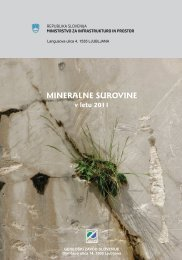 Mineralne surovine v letu 2011 - Geološki zavod Slovenije