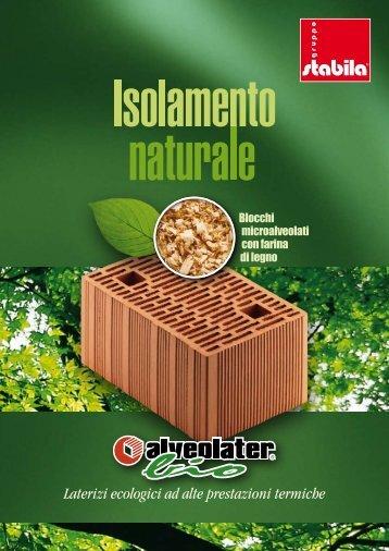 Laterizi ecologici ad alte prestazioni termiche - Gruppo Stabila