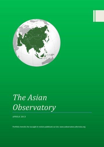 AO Aprile 2013 - The Asian Observatory - Altervista