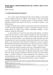 Prime analisi mensiocronologiche dei laterizi della città di Bologna