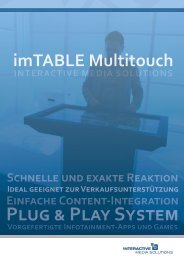 PRODUCT LINE imTABLE Multitouch - Solutions