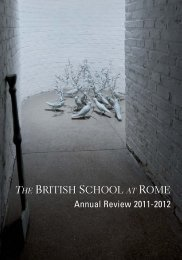 Annual Review 2011-12 - The British School at Rome