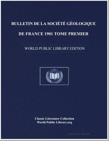 bulletin de la société géologique de france 1901 tome premier