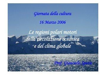 Le regioni polari motori della circolazione oceanica e del clima ...