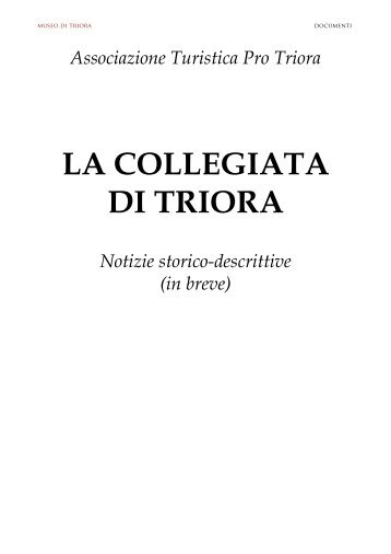 Insigne Collegiata di N.S. Assunta - Museo di Triora