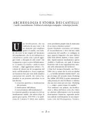 Archeologia e storia dei castelli - Precedente versione del sito