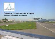 Bollettino dell'aeroporto di Ciampino - 2013/01 - ARPA Lazio