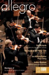 issue three - Vancouver Symphony Orchestra
