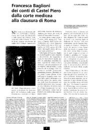Francesca Baglioni dei conti di Castel Piero dalla corte medicea alla ...