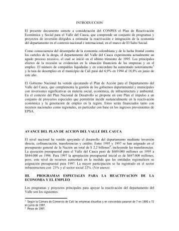 Conpes 2946 - Observatorio Económico y Social del Valle del Cauca