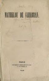 Mathilde di Shabran : dramma per musica in 3 atti = Mathilde de ...