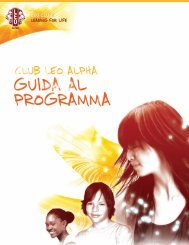 Manuale del programma Leo club Alpha - Lions Clubs International