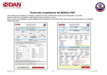 Guida alla compilazione dei MODULI PDF - DAN Europe
