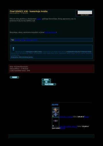 Finał GO4SC2 #38 - komentuje Invidia