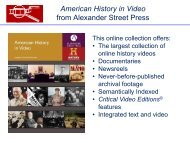 American History in Video from Alexander Street Press
