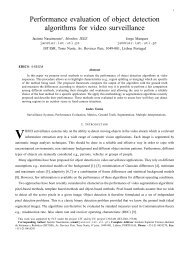Performance evaluation of object detection algorithms for video ...
