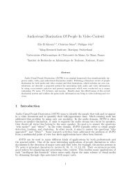 Audiovisual Diarization Of People In Video Content - Publications