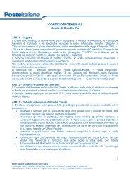 Condizioni Generali del Servizio Clienti PA
