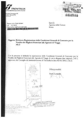 Condizioni Generali di Contratto - Trenitalia