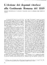 L'elezione dei deputati Viterbesi alla Costituente Romana del 1849