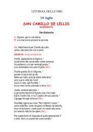 Ufficio delle Letture - SAN CAMILLO DE LELLIS di Bucchianico