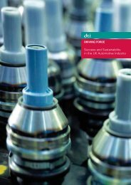 Success and Sustainability in the UK Automotive ... - DTI Home Page