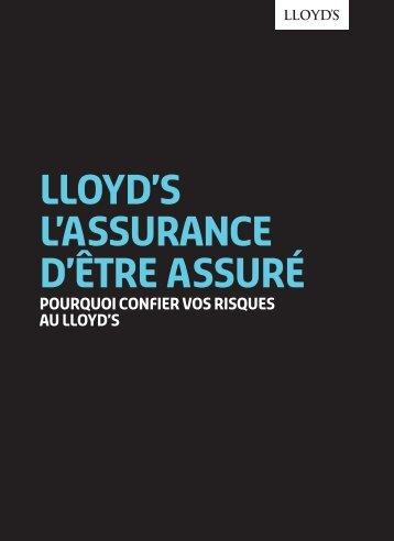 Télécharger la brochure Lloyd's, l'Assurance d'être assuré