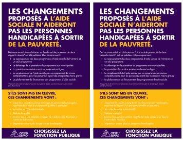LES CHANGEMENTS LES CHANGEMENTS - OPSEU