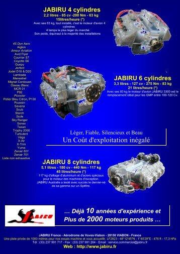 Un Coût d'exploitation inégalé - JABIRU FRANCE