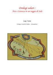 Orologi solari: Arte e Scienza in un raggio di Sole - Alssa