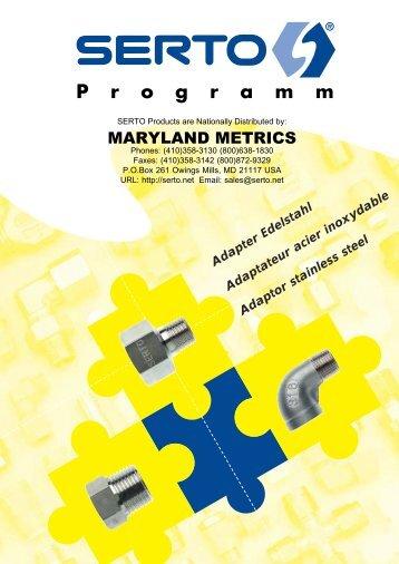 Stainless Steel Adaptors Brochure (2003) - Maryland Metrics