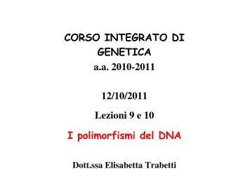 lezione 09-10 Polimorfismi 12/10/2011