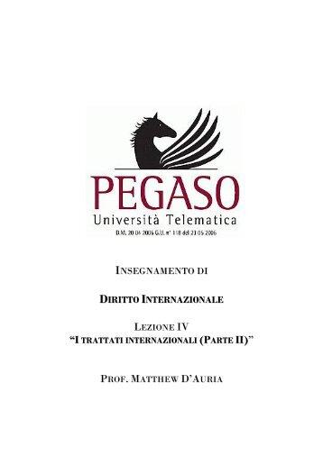 diritto internazionale - Pegaso