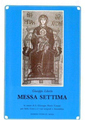 Messa Settima di Mons. Giuseppe Liberto - ufficio liturgico