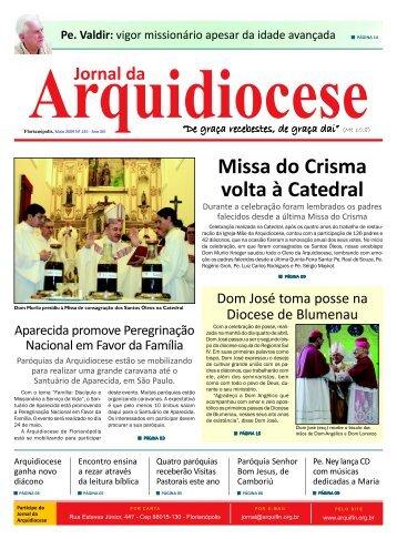 Edição 145, Ano XIII, Maio 2009. - Arquidiocese de Florianópolis