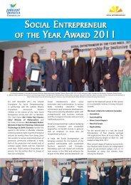 Snapshot of Social Entrepreneur Of The Year Awards- India 2011