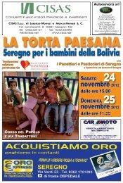 Il giornalino della Torta Paesana 2012 - Associazione Carla Crippa