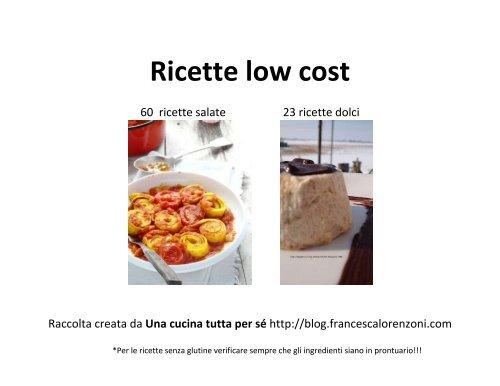 Ricette low cost - Una cucina tutta per sè