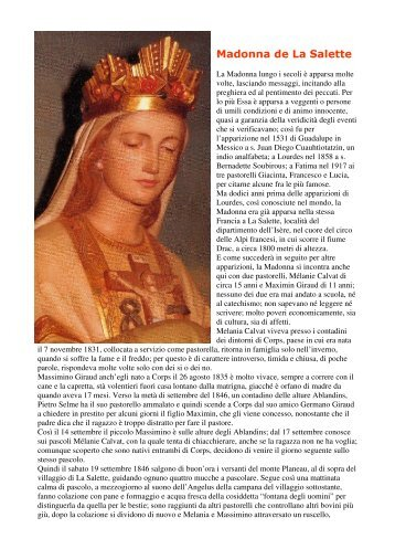 Madonna de La Salette - Regina Mundi