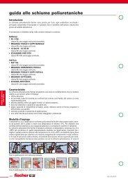guida alle schiume poliuretaniche - Formenti srl - forniture industriali