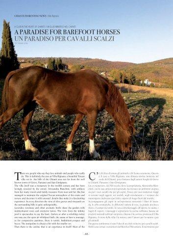 a paradise for barefoot horses un paradiso per ... - Villa Rignana