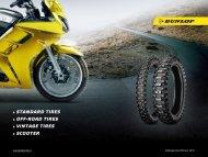 Download catalog of standard tires - Dunlop