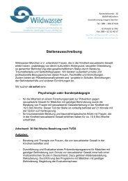 Psychologin oder Sozialpädagogin (PDF 293 KB) - Wildwasser ...