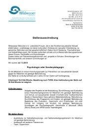 Stellenausschreibung - Wildwasser München