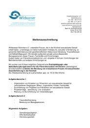 Stellenauschreibung Prävention + Beratung Dez 2012 - Wildwasser ...