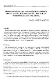 importaciones e imitaciones de cerámica romana ... - ArqueoCórdoba